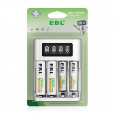 Fast LCD Screen Charger and 2 Pcs AA Battery+2 Pcs AAA Battery