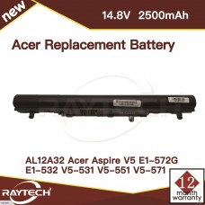 [F28]Acer Replacement Battery 14.8V 2500mAh for AL12A32 ACER Aspire V5, Aspire V5-531 Series, Aspire V5-171 Series, Aspire V5-431 Series, Aspire V5-471 Series, Aspire V5-531 Series, Aspire V5-571 Series Laptop Battery