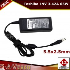 (M1)Original Adapter 19V 3.42A 65W For Toshiba Satellite C50 C55 C855D T235 L955