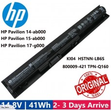 [C9]HP Original Battery KI04 14.8v 2600mAh for HP Pavilion 17-g000~17-g099 14-ab000~14-ab099 15-ab000~15-ab099