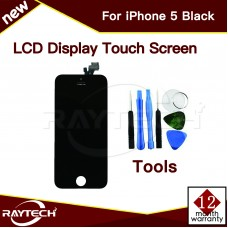 Replacement Apple iPhone 5 LCD Display & Touch Panel, Black.