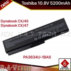 [D36]Toshiba Replacementl Battery 10.8V 52Wh Black PA3817U (not compatible with PA3634) Satellite L700 L730 L735 L740 L745 L750 L755