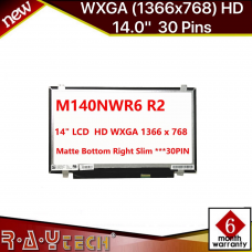 "[K2]M140NWR6 R2 matte 1366x768 14.0"" LED  Bottom Right Slim ***30PIN*** Top and Bottom Brackets"
