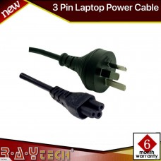 [L21]  2M Power Cord, 3Pin Plug to Clover 7.5A SAA Approved.