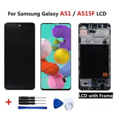 Samsung Galaxy A51 2019 A515 Replacement LCD Display Touch Screen Digitizer Black With Frame OLED