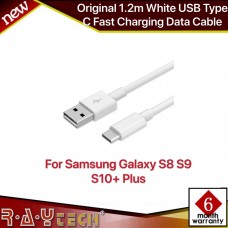 Original 1.2m White USB Type C Fast Charging Data Cable For Samsung Galaxy S8 S8 Plus with packaging