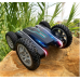RC Stunt Car Flower Twisting Arm Double-Side Tumbling Car LED Light Dancing 898A Black